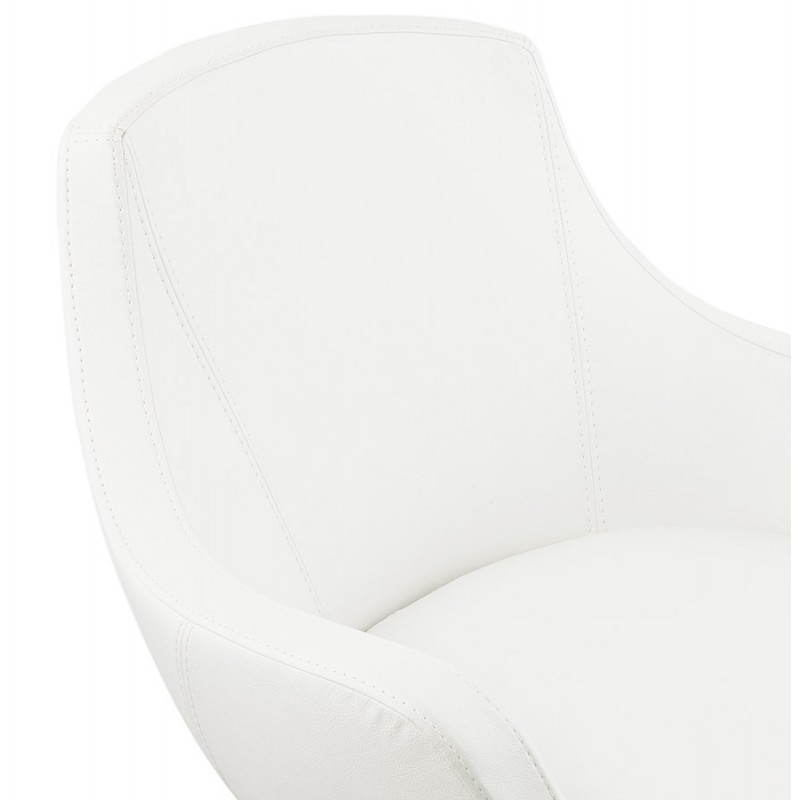 Design rotating armchair with 360 ° ROMANE (white) - image 25030