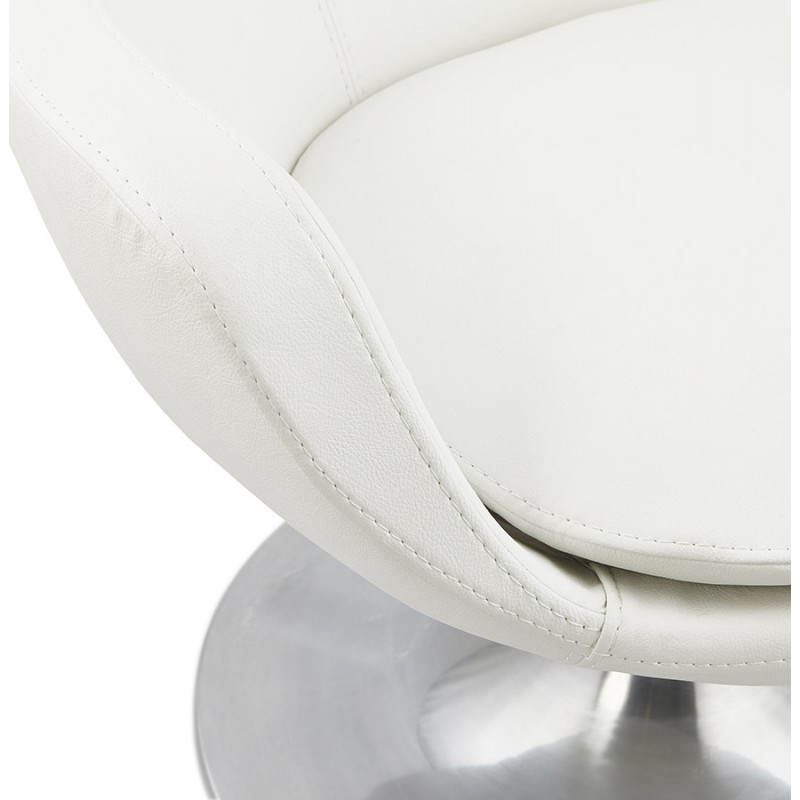 Design rotating armchair with 360 ° ROMANE (white) - image 25033