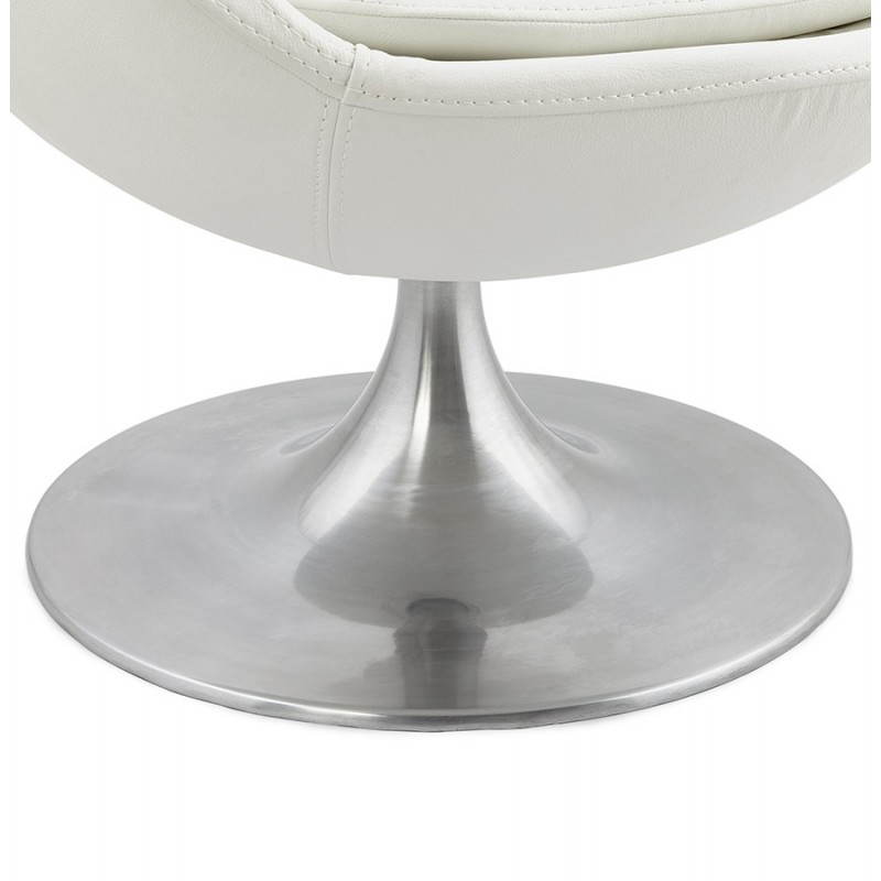 Design rotating armchair with 360 ° ROMANE (white) - image 25036