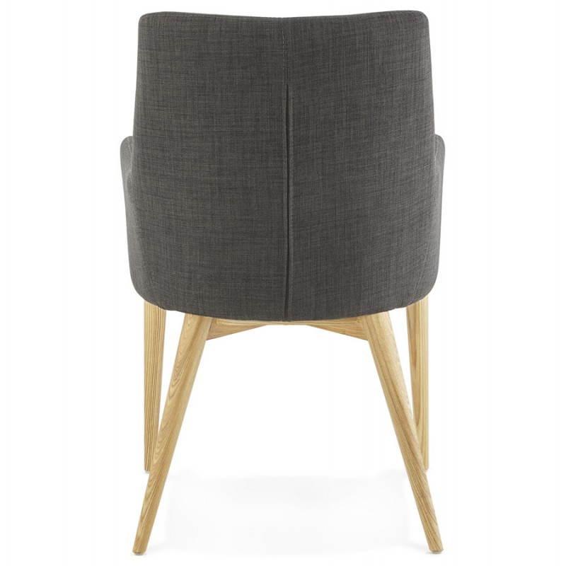 fauteuil de style scandinave design barbara en tissu gris fonc. Black Bedroom Furniture Sets. Home Design Ideas