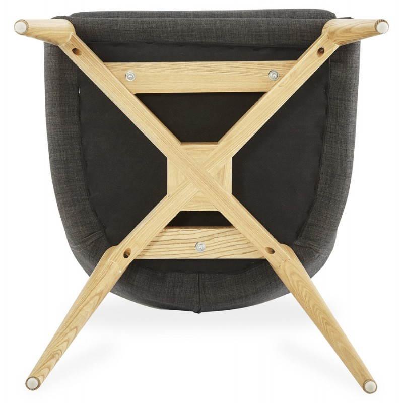 Design scandinavo stile tessuto sedia di BARBARA (grigio scuro) - image 25050