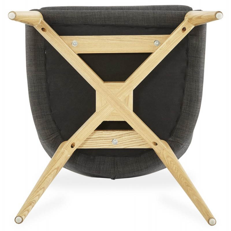 Diseño escandinavo estilo tela silla de BARBARA (gris oscuro) - image 25050