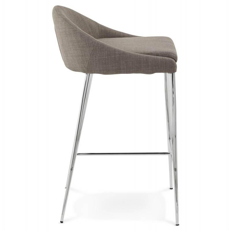 Tabouret mi hauteur design LINDA en tissu (gris) - image 25053