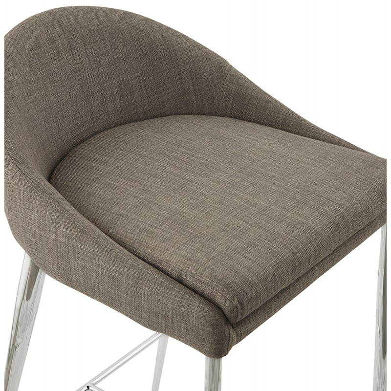 Tabouret mi hauteur design LINDA en tissu (gris) - image 25056