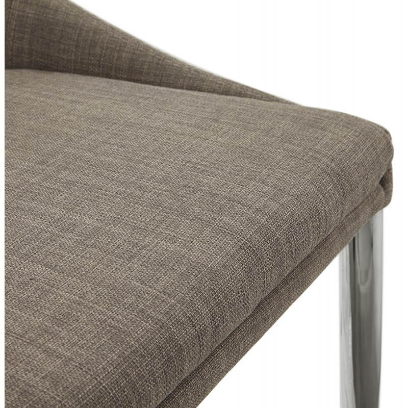 Tabouret mi hauteur design LINDA en tissu (gris) - image 25057