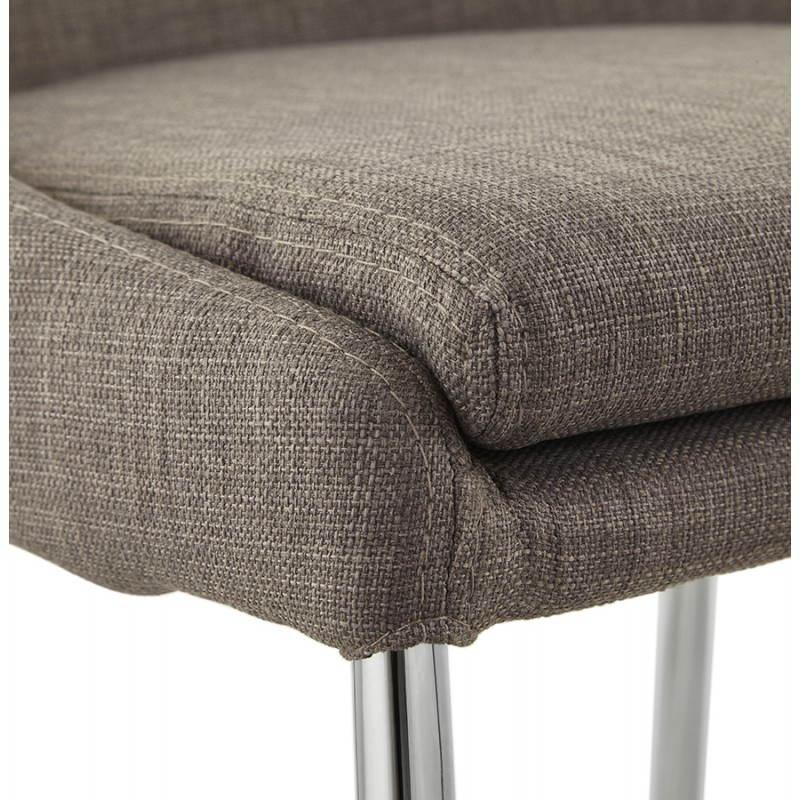 Tabouret mi hauteur design LINDA en tissu (gris) - image 25058