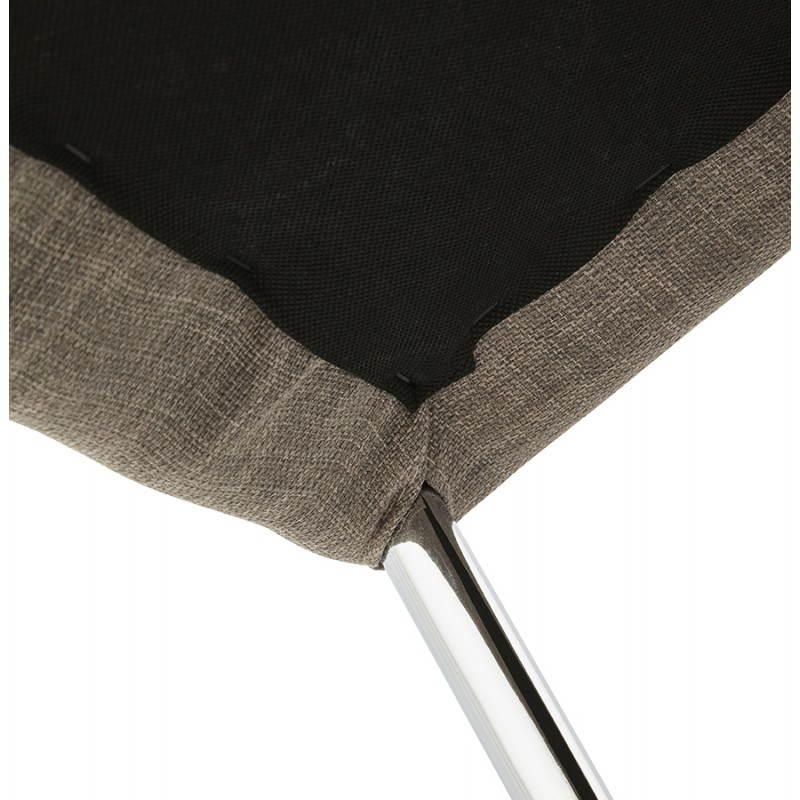 Tabouret mi hauteur design LINDA en tissu (gris) - image 25062