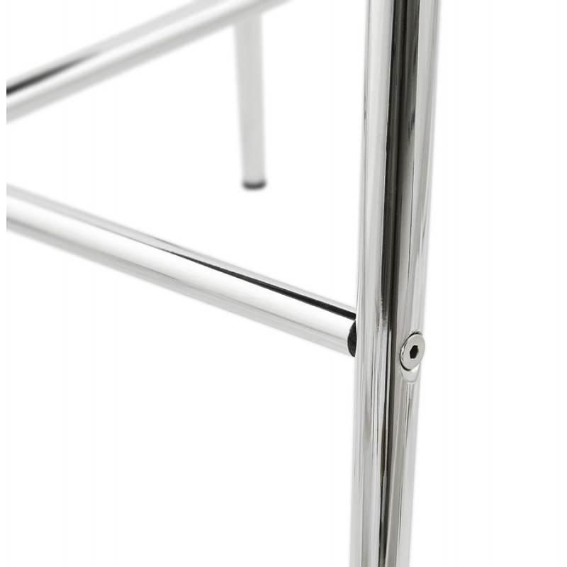 Tabouret mi hauteur design LINDA en tissu (gris) - image 25064