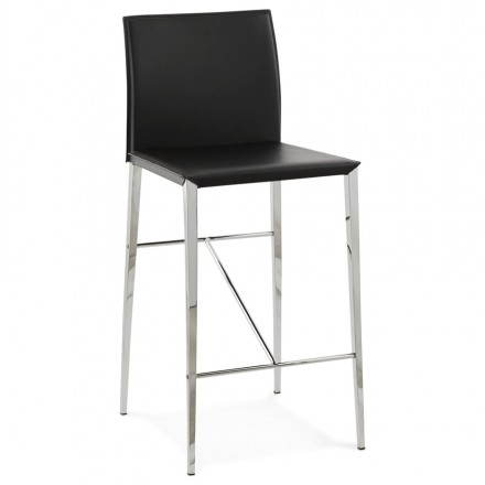 Stool mid height design and contemporary NADIA (black)