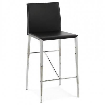 Taburete de diseño contemporáneo media altura NADIA (negro)