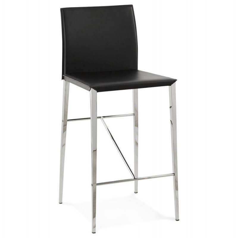Tabouret mi hauteur design et contemporain NADIA (noir) - image 25067
