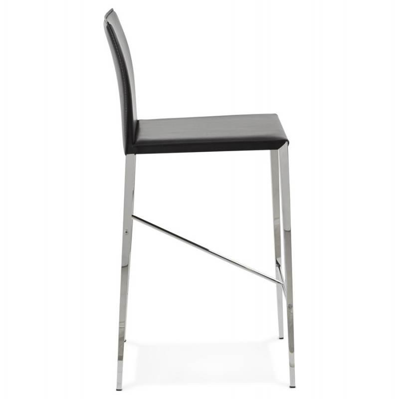 Tabouret mi hauteur design et contemporain NADIA (noir) - image 25069