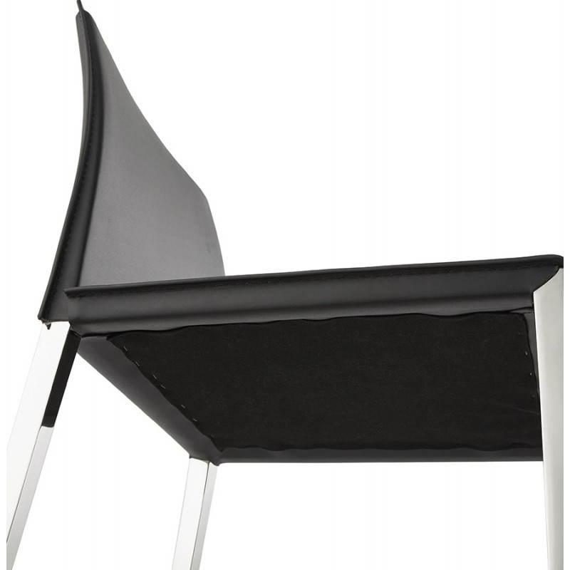 tabouret mi hauteur design et contemporain nadia noir. Black Bedroom Furniture Sets. Home Design Ideas