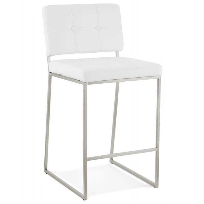 Tabouret mi hauteur design rétro DADY (blanc) - image 25081