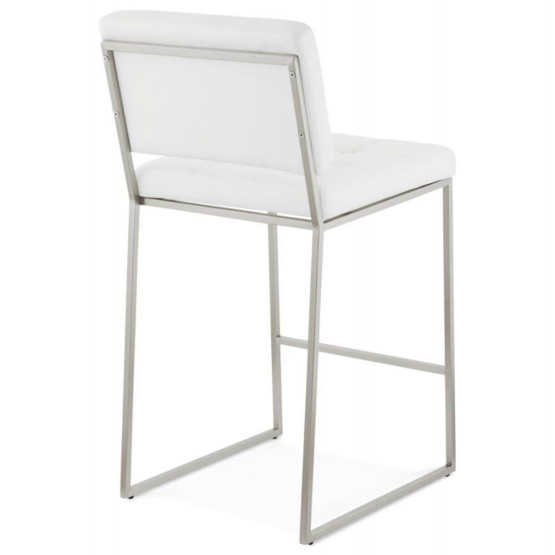 tabouret mi hauteur design r tro dady blanc. Black Bedroom Furniture Sets. Home Design Ideas