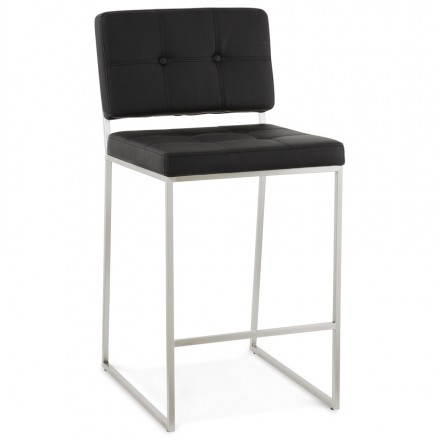 tabouret mi hauteur design r tro dady noir. Black Bedroom Furniture Sets. Home Design Ideas