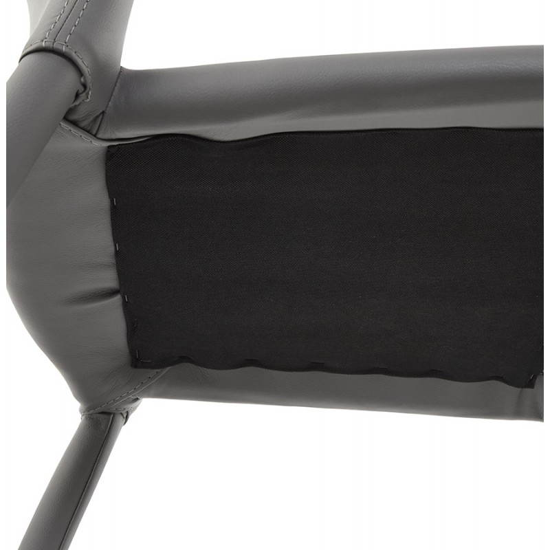 Tabouret de bar design BARBY (gris foncé) - image 25130