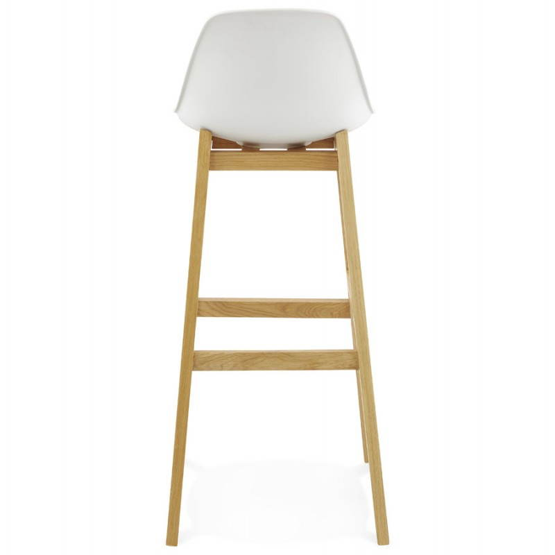 Tabouret de bar chaise de bar design scandinave FLORENCE (blanc) - image 25148