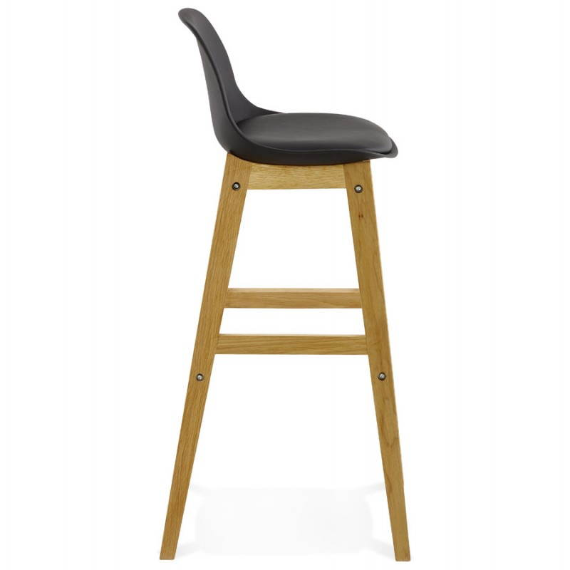 tabouret de bar chaise de bar design scandinave florence noir. Black Bedroom Furniture Sets. Home Design Ideas