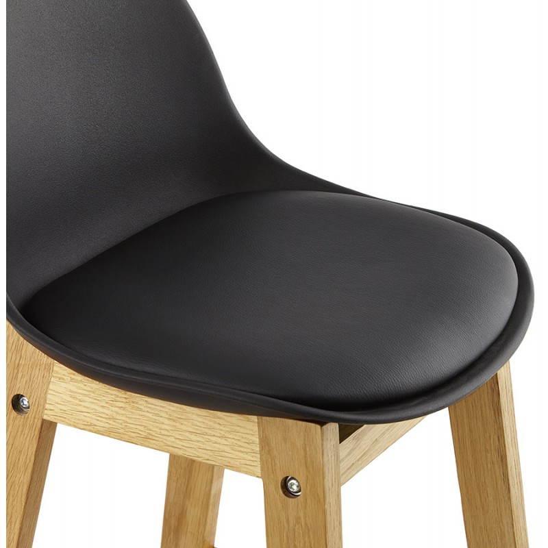 Tabouret de bar chaise de bar design scandinave FLORENCE (noir) - image 25174