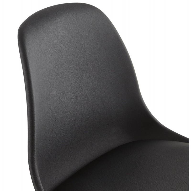 Tabouret de bar chaise de bar design scandinave FLORENCE (noir) - image 25178