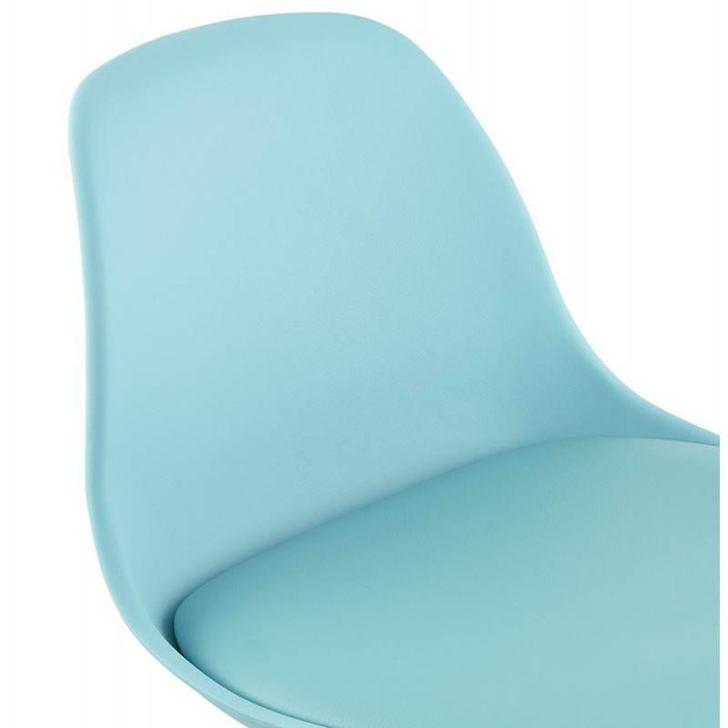 Tabouret de bar design et compact ROBIN (bleu) - image 25200
