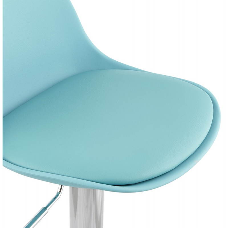 Tabouret de bar design et compact ROBIN (bleu) - image 25204