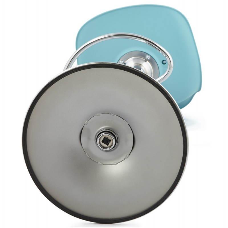 Tabouret de bar design et compact ROBIN (bleu) - image 25218