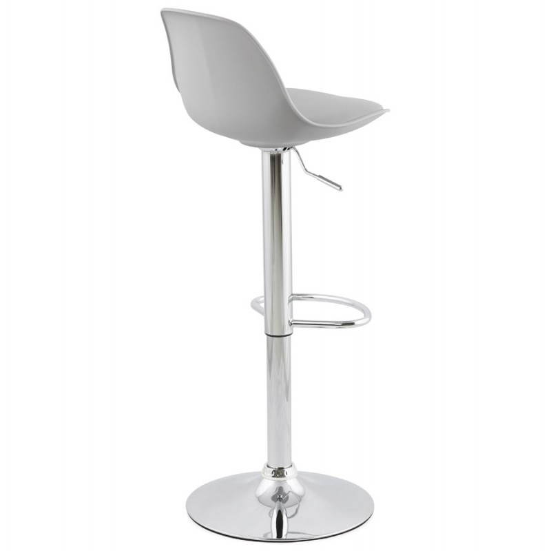 tabouret de bar design et compact robin gris. Black Bedroom Furniture Sets. Home Design Ideas