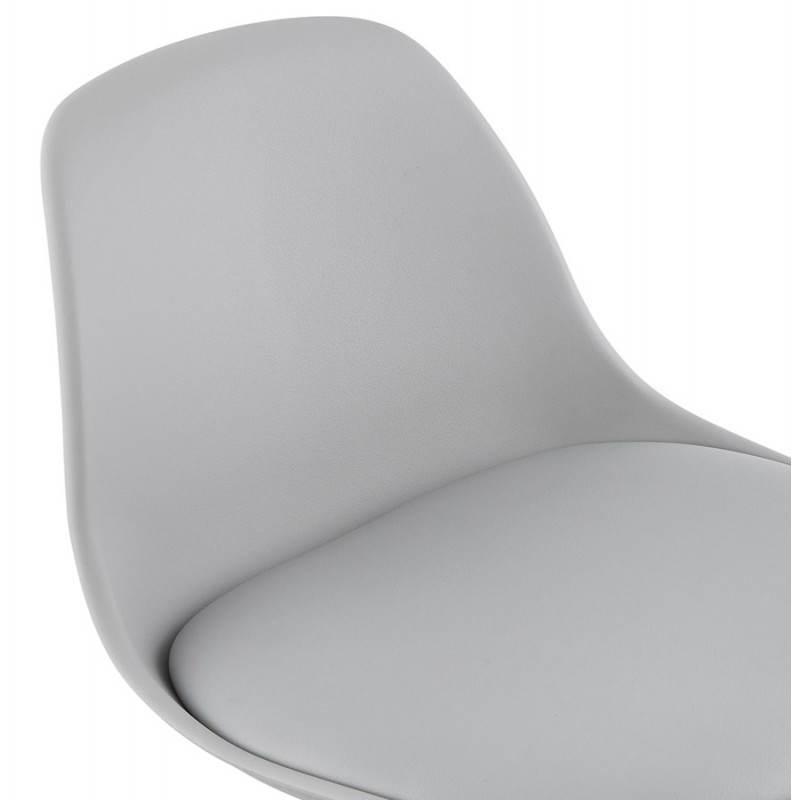 Tabouret de bar design et compact ROBIN (gris) - image 25346