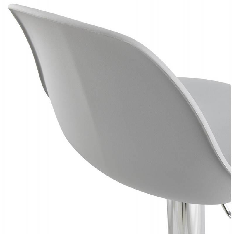 Tabouret de bar design et compact ROBIN (gris) - image 25347