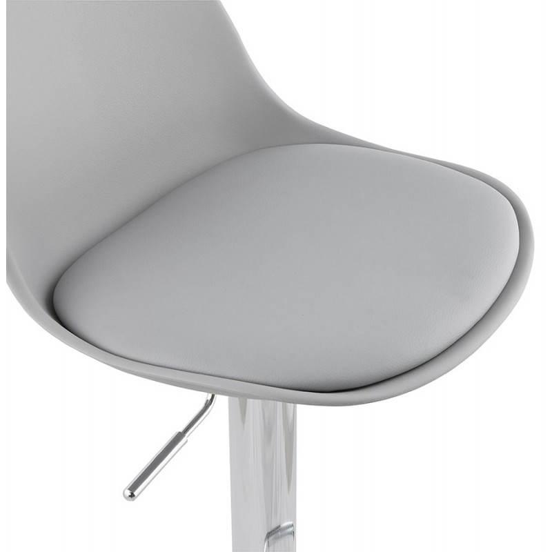 Tabouret de bar design et compact ROBIN (gris) - image 25348