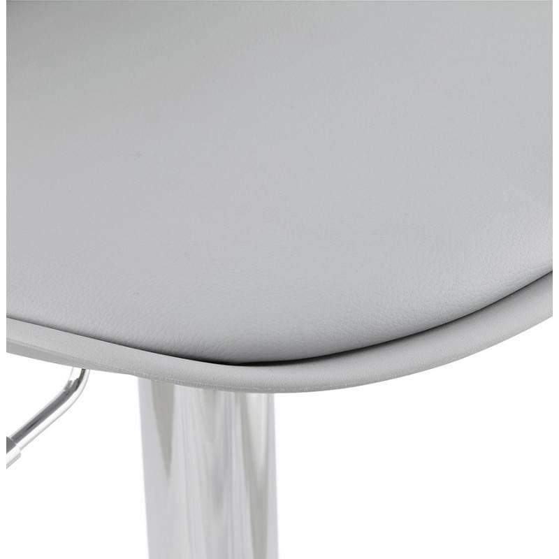 Tabouret de bar design et compact ROBIN (gris) - image 25349