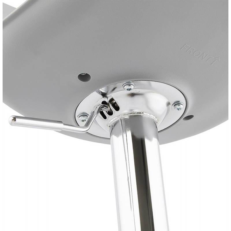 Tabouret de bar design et compact ROBIN (gris) - image 25351
