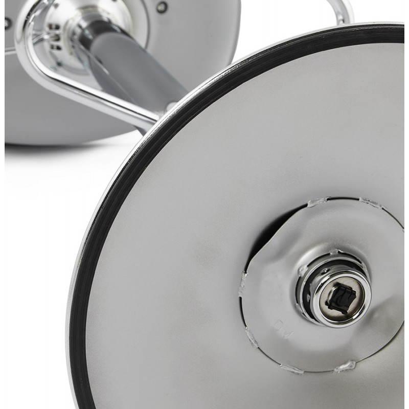 Tabouret de bar design et compact ROBIN (gris) - image 25354