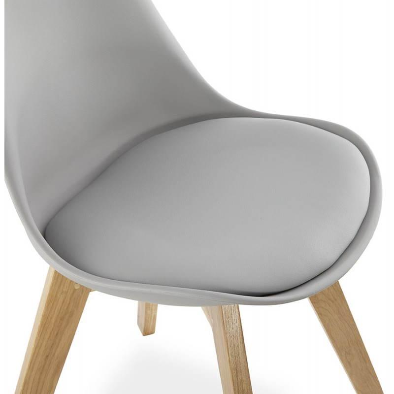 moderner stuhl stil skandinavischen sirene leder grau. Black Bedroom Furniture Sets. Home Design Ideas