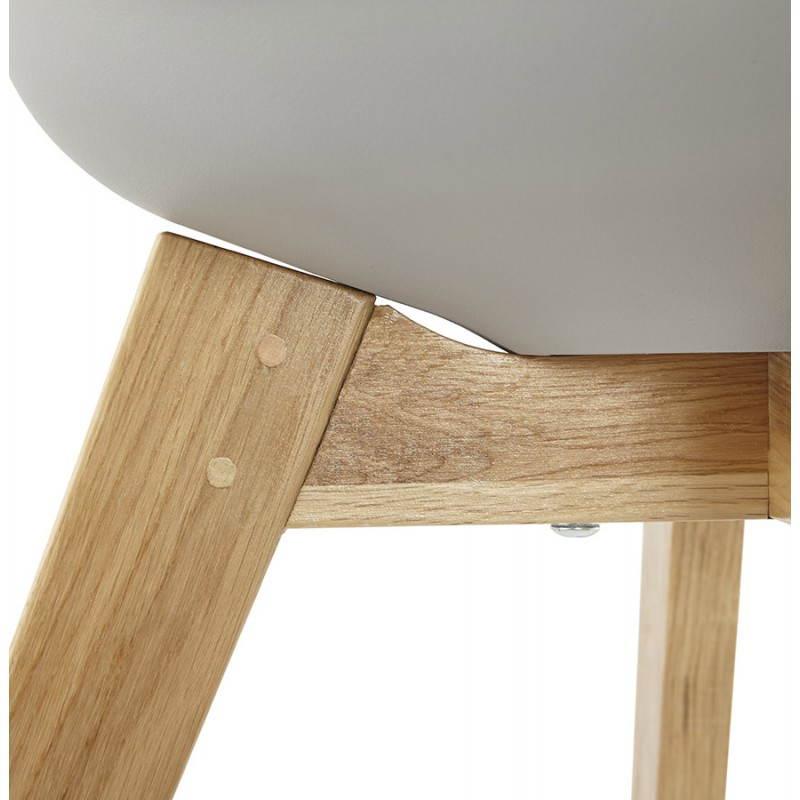 Moderno estilo de silla escandinava SIRENE (gris) - image 25378