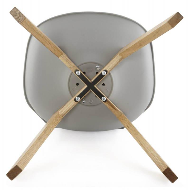 Moderno estilo de silla escandinava SIRENE (gris) - image 25381