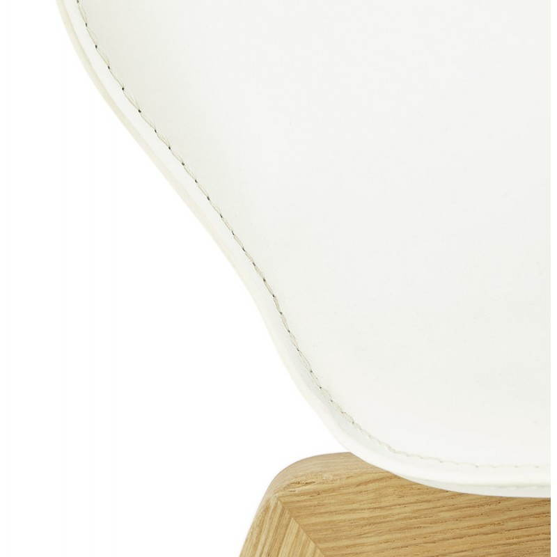 Chaise vintage style scandinave MARTY (blanc) - image 25388