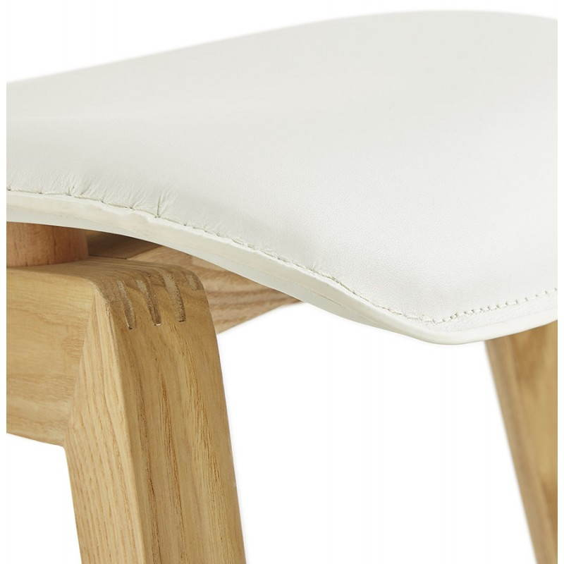 Chaise vintage style scandinave MARTY (blanc) - image 25389