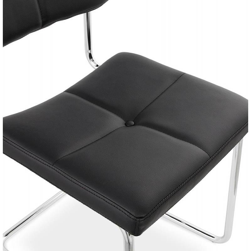 Chaise design capitonnée BONOU en polyuréthane (noir) - image 25404