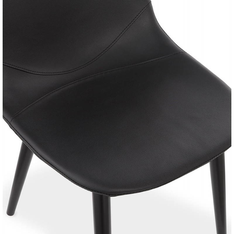 Chaise design contemporaine lola noir - Chaises contemporaines design ...