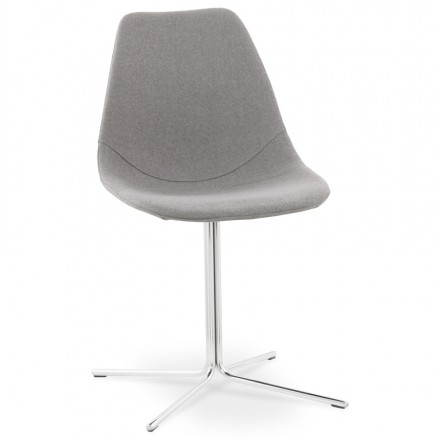 Contemporary design chair OFEN in fabric (grey)