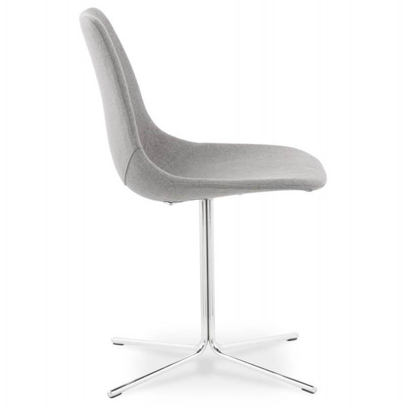 chaise design contemporaine ofen en tissu gris. Black Bedroom Furniture Sets. Home Design Ideas