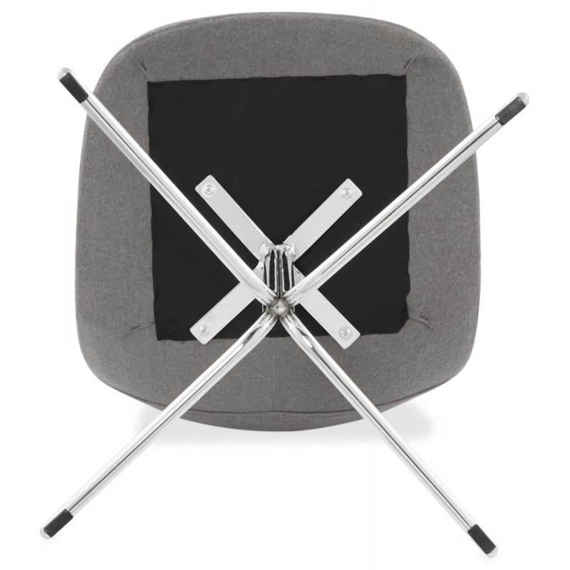 Silla de diseño contemporáneo OFEN en tela (gris) - image 25466