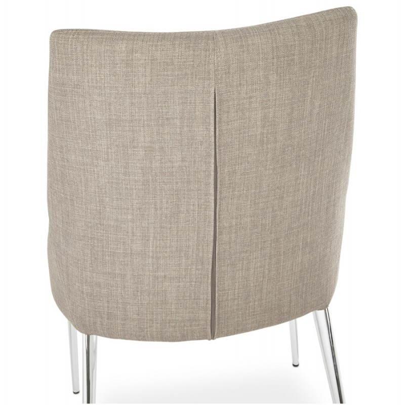 Chaise design rétro VALOU en tissu (gris) - image 25473