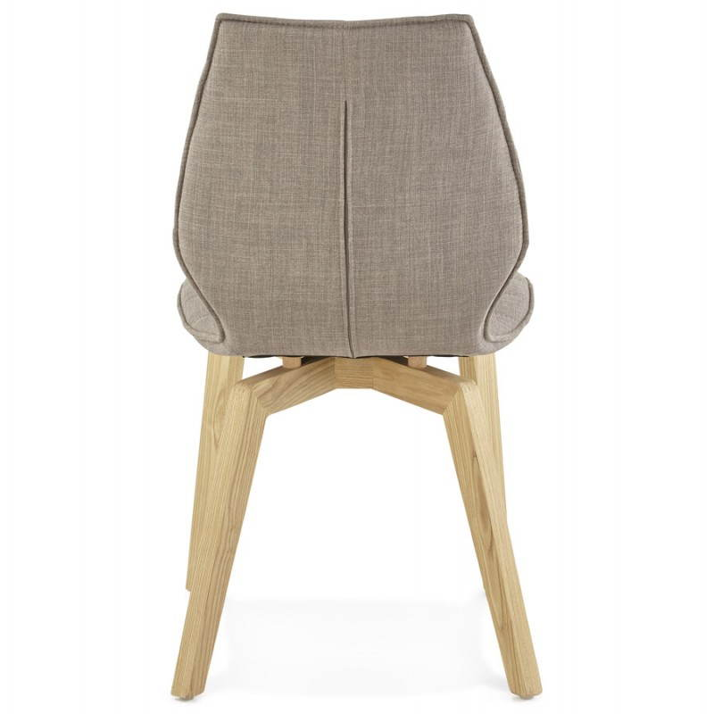 Chaise vintage style scandinave marty en tissu gris for Chaise scandinave en tissu
