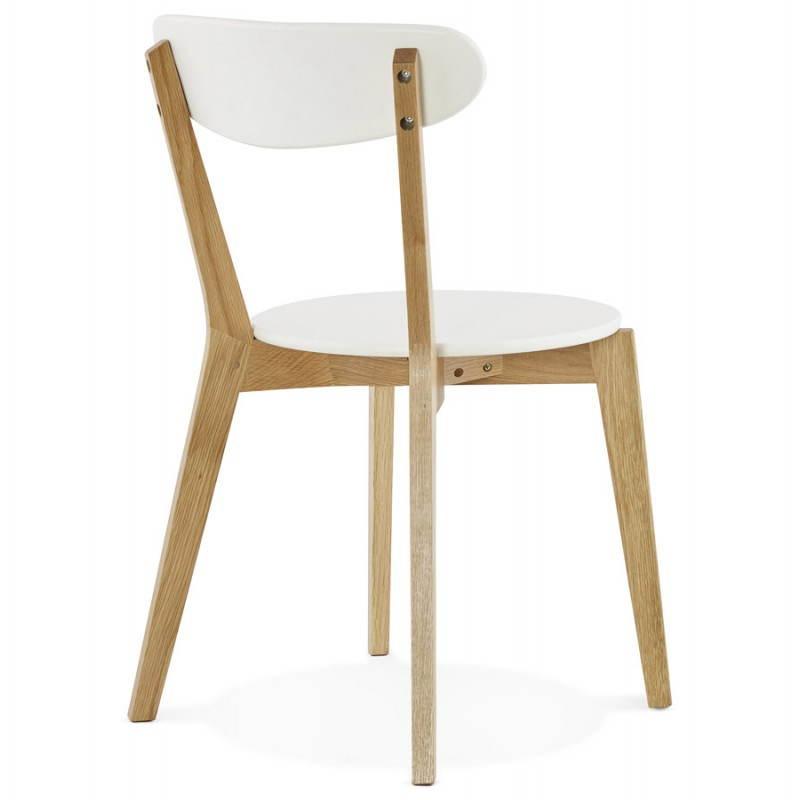 Chaise Design Style Scandinave SCANDI En Bois Blanc