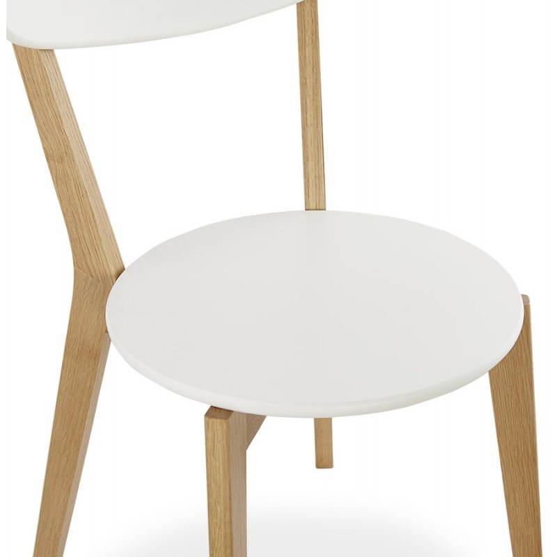 Chaise design style scandinave SCANDI en bois (blanc) - image 25503