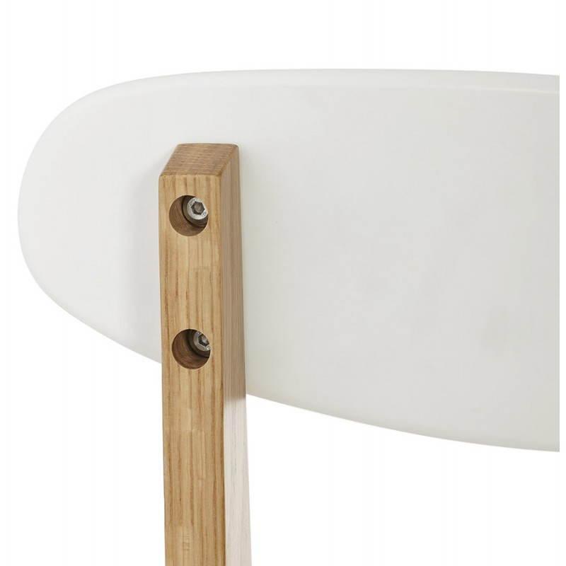 Chaise design style scandinave SCANDI en bois (blanc) - image 25505